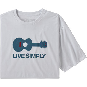 Patagonia Live Simply Guitar T-shirt Homme, white